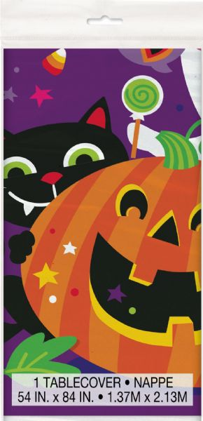 Happy Halloween Plastic Tablecover